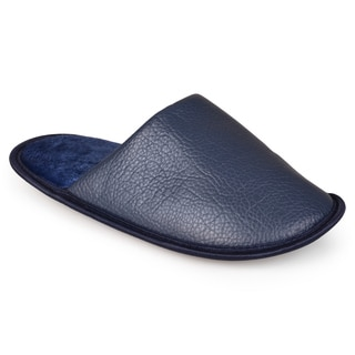 Vance Co. Men's Pebbled Backless Slippers