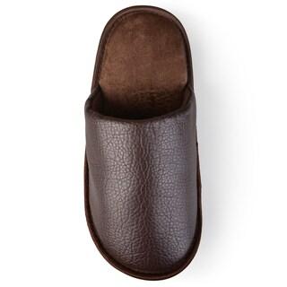 Vance Co. Men's Pebbled Backless Slippers
