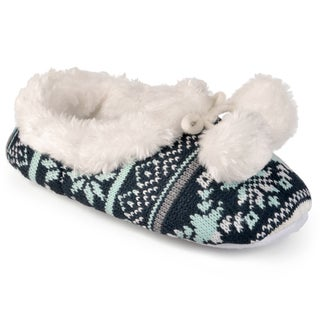 Journee Collection Women's Plush Fair Isle Slippers