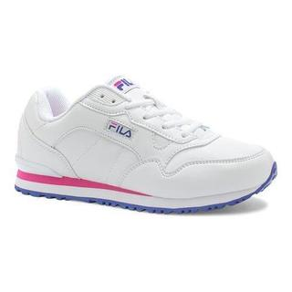 Fila Women's Cress Sneaker White/Royal Blue/Pink Glow
