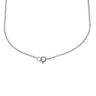 Finesque Silver Overlay Diamond Accent Initial Necklace (I-J, I2-I3)