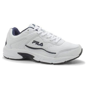 Men's Fila Memory Sportland Running Shoe White/Fila Navy/Metallic Silver  (More options