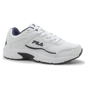 Men's Fila Memory Sportland Running Shoe White/Fila Navy/Metallic Silver