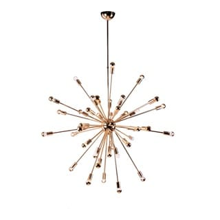 Spark Hanging Chandelier 39 Inches Gold