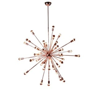 Spark Hanging Chandelier Copper 39 Inches