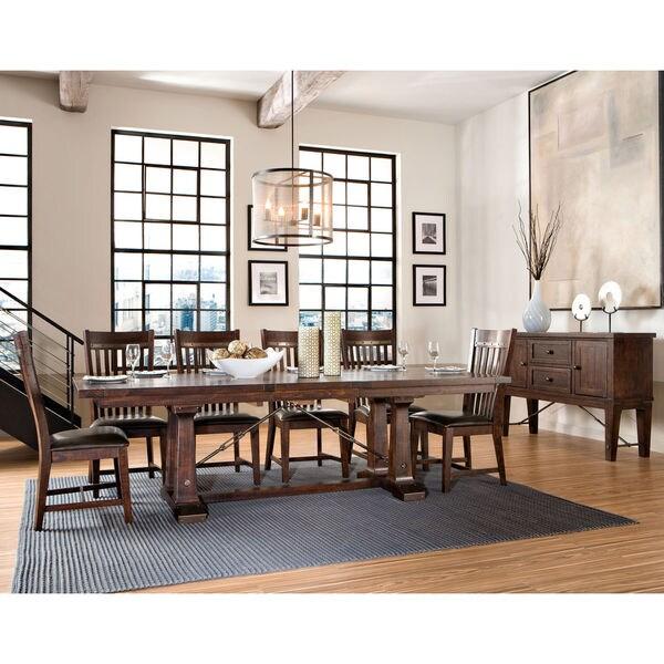 Shop Hayden Rough Sawn Espresso Trestle Dinette Table