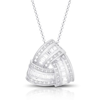 Dolce Giavonna Silver Overlay Cubic Zirconia Love Knot Design Necklace|https://ak1.ostkcdn.com/images/products/10770394/P17821416.jpg?_ostk_perf_=percv&impolicy=medium