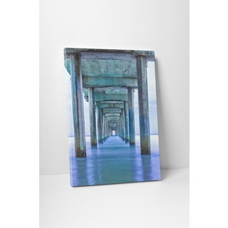 Moises Levy 'Muelle Vertical Pano' Gallery Wrapped Canvas Wall Art