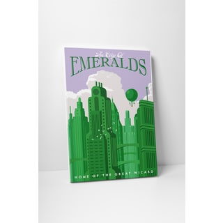Steve Thomas 'City of Emeralds' Gallery Wrapped Canvas Wall Art