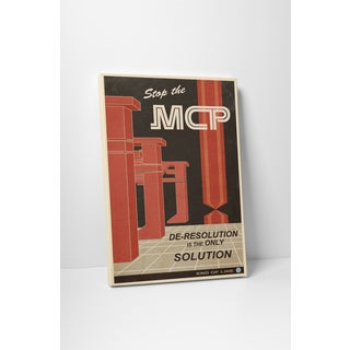 Steve Thomas 'Stop the MCP' Gallery Wrapped Canvas Wall Art - Red