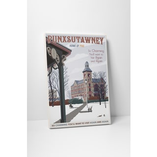Steve Thomas 'Punxsutawney' Gallery Wrapped Canvas Wall Art