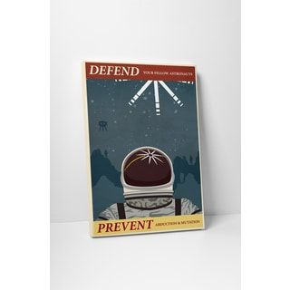 Steve Thomas 'Defend and Prevent' Gallery Wrapped Canvas Wall Art - Blue