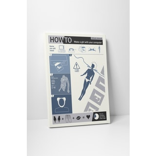 Steve Thomas 'How-to Girl' Gallery Wrapped Canvas Wall Art
