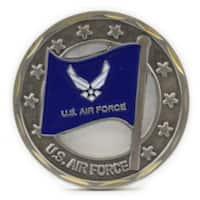 Air Force Logo Flag Coin