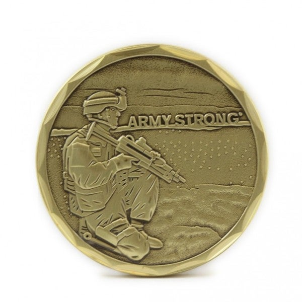 Army Soldier Coin Army Strong Logo