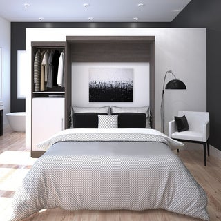 """Nebula by Bestar Queen Wall bed with one 25"""" storage unit"""