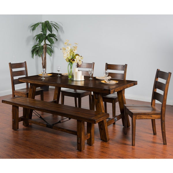 Sunny Designs Tuscany Extension Table WithTurnbuckle   MOCHA