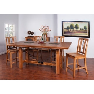 Sunny Deigns Sedona Dining Table with Butterfly Leaf
