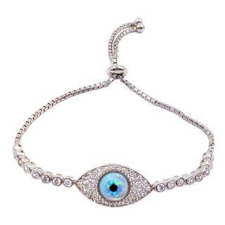 Evil Eye Sterling Silver Bracelet