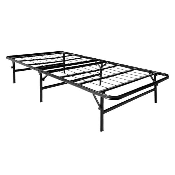 shop brookside twin xl size platform bed frame and box spring in one foldable bed base free. Black Bedroom Furniture Sets. Home Design Ideas