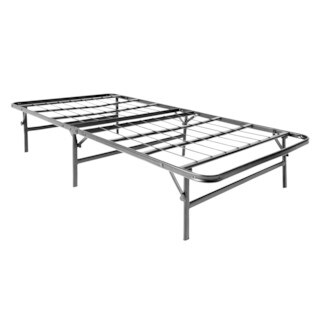 STRUCTURES Twin-size Platform Bed Frame and Box Spring in One Foldable Bed Base