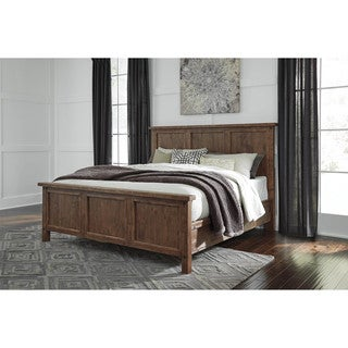 Signature Design by Ashley Tamilo Gray/Brown Queen Panel Bedroom Set