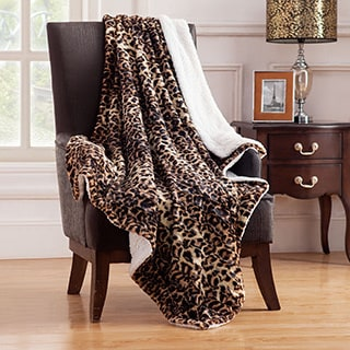 Animal Faux Fur Throw