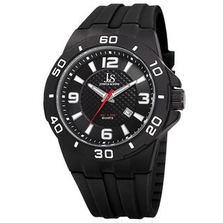 Joshua & Sons Men's Quartz Date Display Black Strap Watch