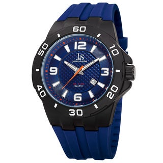 Joshua & Sons Men's Quartz Date Display Blue Strap Watch