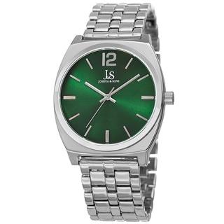 Joshua & Sons Men's Quartz Sunray Dial Green Bracelet Watch