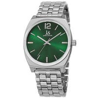 Joshua & Sons Men's Quartz Sunray Dial Green Bracelet Watch