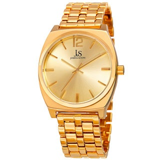 Joshua & Sons Men's Quartz Sunray Dial Gold-Tone Bracelet Watch