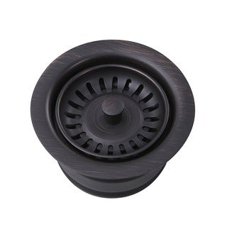 Highpoint Collection Dark Brushed Oil Rubbed Bronze Finished Disposal Drain with Extended Collar