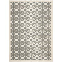 Safavieh Courtyard Trellis Anthracite/ Beige Indoor/ Outdoor Rug - 9' x 12'6