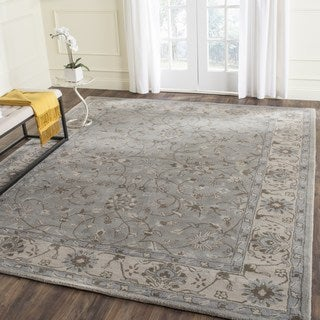 Safavieh Handmade Heritage Timeless Traditional Beige/ Grey Wool Rug (6' x 9')