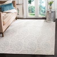 Safavieh Handmade Mirage Paisley Light Blue Wool/ Viscose Rug - 6' x 9'