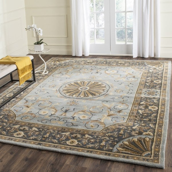 Safavieh Hand-Tufted Empire Blue Wool Rug - 9'6 x 13'6