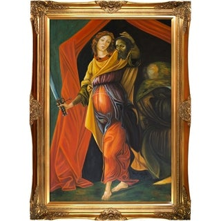 Sandro Botticelli 'Judith Leaving the Tent of Holofernes' Hand Painted Framed Canvas Art