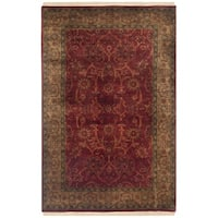 Safavieh Hand-knotted Ganges River Rust/ Green Wool Rug - 2'6 x 4'