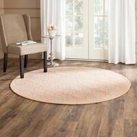 Safavieh Hand-hooked Chelsea Gold Wool Rug - 5'6 Round
