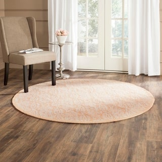 Safavieh Hand-hooked Chelsea Gold Wool Rug (5'6 Round)