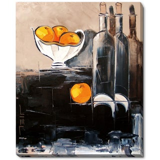 Atelier De Jiel 'Bottles of Wine with Oranges' Framed Fine Art Print