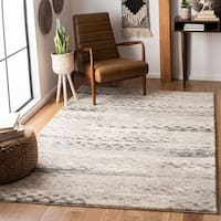 Safavieh Retro Modern Abstract Cream/ Grey Distressed Area Rug - 6' x 6' Square