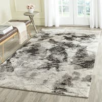 Safavieh Retro Modern Abstract Cream/ Grey Distressed Rug - 6' Square