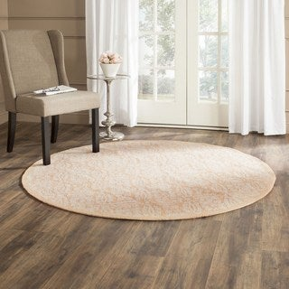 Safavieh Hand-hooked Chelsea Gold Wool Rug (8' Round)