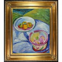 Alfred Henry Maurer 'Still Life' Hand Painted Framed Canvas Art