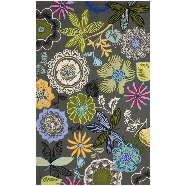 Safavieh Hand-Hooked Four Seasons Grey / Multicolored Rug - 9' x 12'