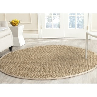 Safavieh Casual Natural Fiber Natural and Beige Border Seagrass Rug (10' Round)