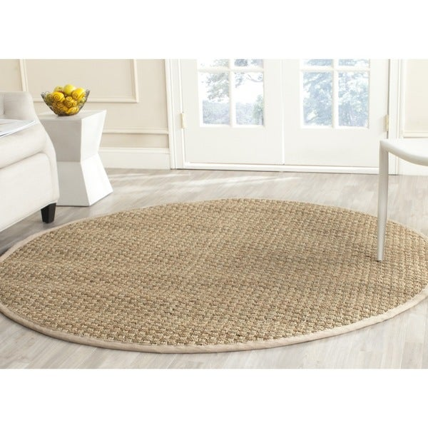 Safavieh casual natural fiber natural and beige border for Ikea grass rug
