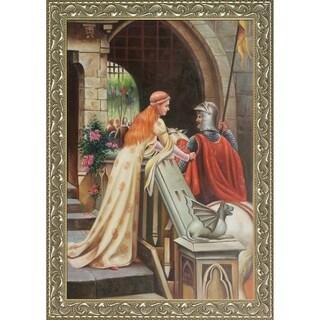 Edmund Blair Leighton 'God Speed, 1900'  Hand Painted Framed Canvas Art